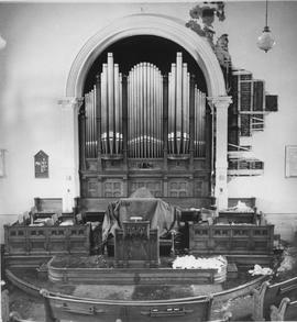 Photograph of the inside of the Plymouth-Trinity United Church