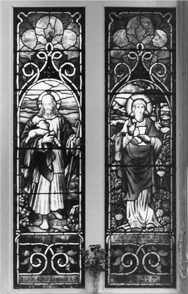 Photograph of the stained glass of Plymouth-Trinity United Church