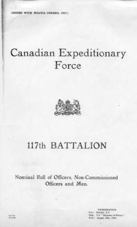 CEF, 117th Battalion, Nominal Roll