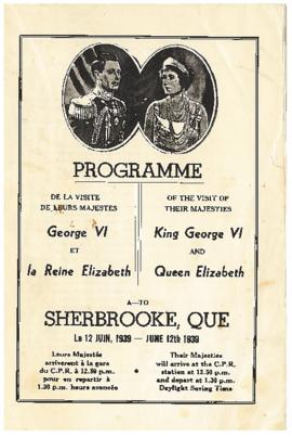 Programme of the visit of their majesties King George VI and Queen Elizabeth