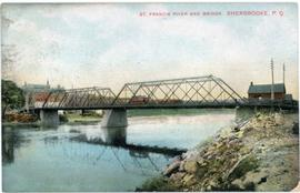 St. Francis River and Bridge, Sherbrooke, P.Q.