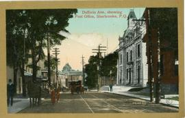 Dufferin Ave. showing Post Office, Sherbrooke, P.Q.