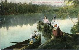 Boating on Magog River, Sherbrooke, P.Q.