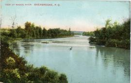 view of Magog River, Sherbrooke, P.Q.